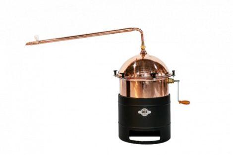 DES Vajdasági pálinkafőző - 35L - keverővel, bilincses zárással, átfolyós hűtővel