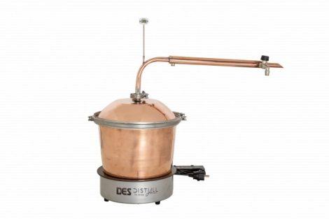 DES Illóolaj lepárló 10 L - elektromos fűtéssel, átfolyós hűtővel
